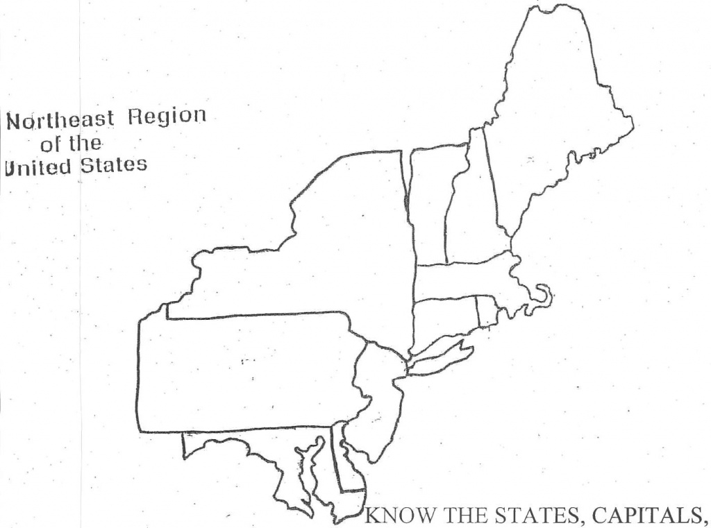 Map Of Northeast Region Of Usa - Mercnet throughout Northeast States And Capitals Map