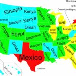 Map Of Of Us States Gdp And Other Countries   Business Insider Throughout Map Of The World With Us States