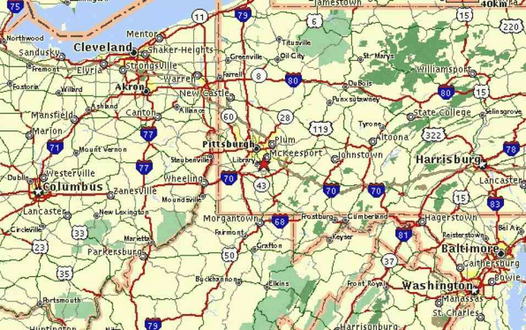Map Of Ohio Pennsylvania   Holiday Map Q   Holidaymapq ® in Tri State Road Map