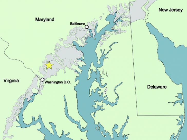Map Of Maryland And Surrounding States