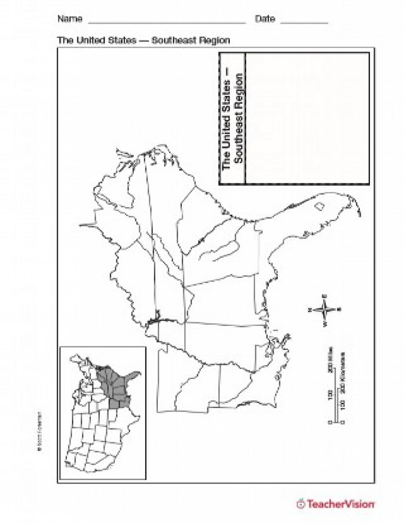 Map Of Southeast United States - Teachervision inside Map Of The Southeast Region Of The United States
