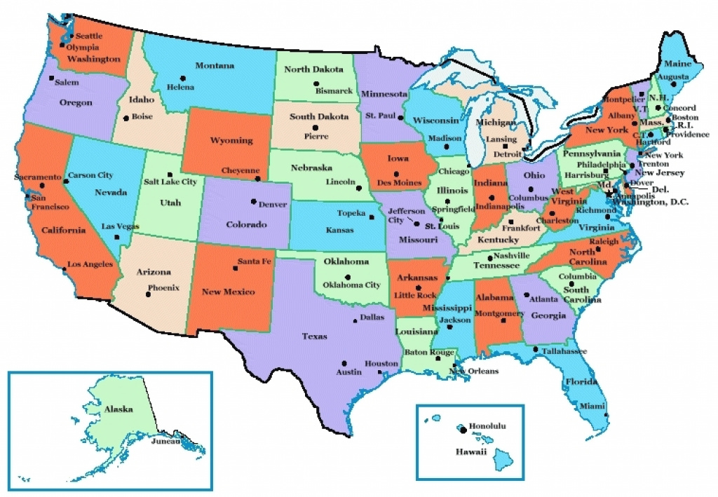 Map Of State Capitals In Usa Us Map States And Capital Us River Map within Map Of The United States With Capitols