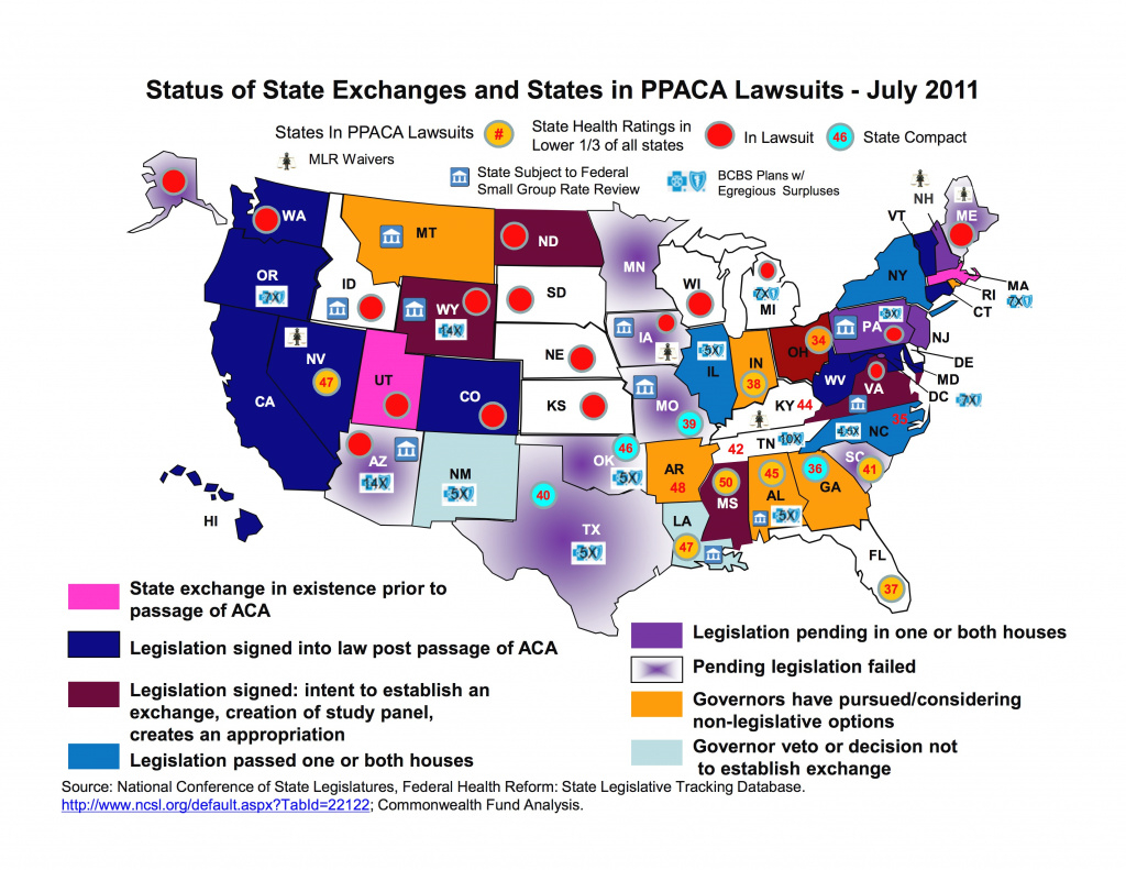 Map Of State Exchanges Status – July 2011 | The Alex Miller intended for States With Exchanges Map