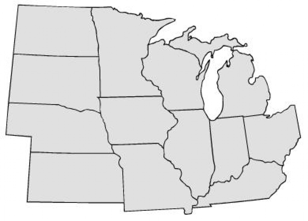 Map Of The Midwest States And Travel Information   Download Free Map regarding Blank Map Of Midwest States