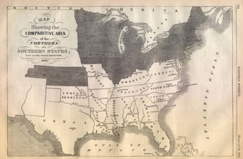 Map Of The Union And Confederate States inside Civil War Map Union And Confederate States