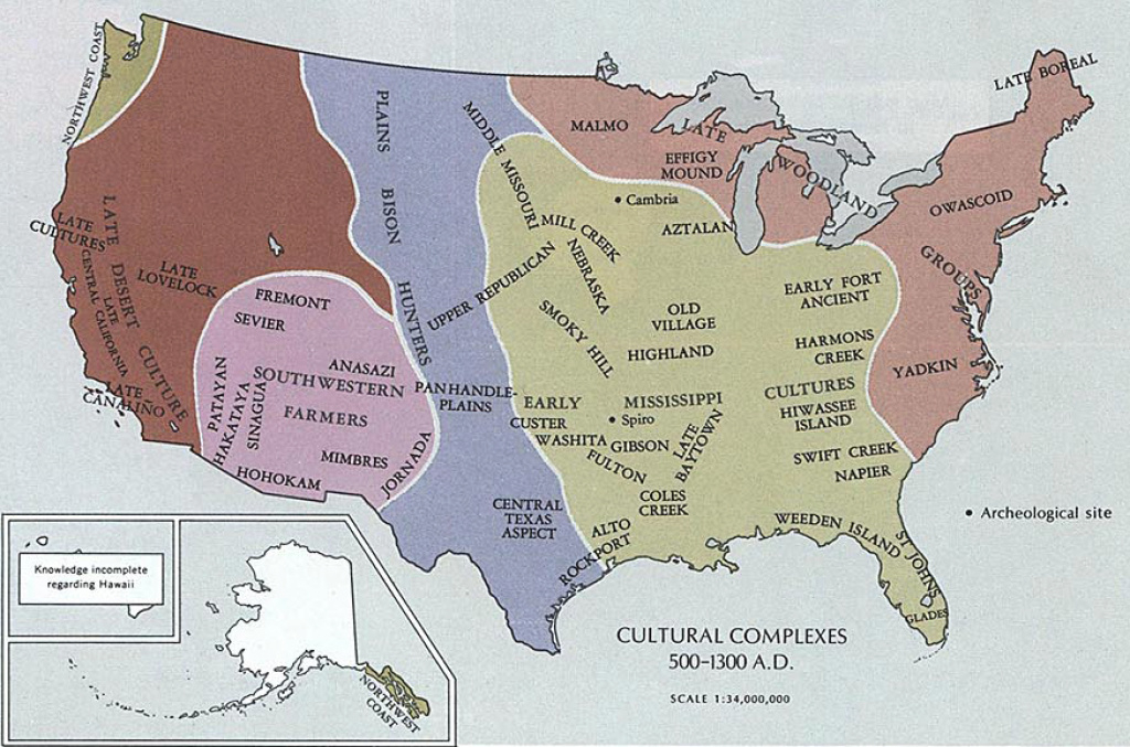 Map Of The United States 500-1300 Ad with 1700 Map Of The United States