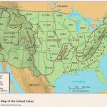Map Of The United States Mountains And Rivers And Travel Information Intended For United States Features Map Puzzle