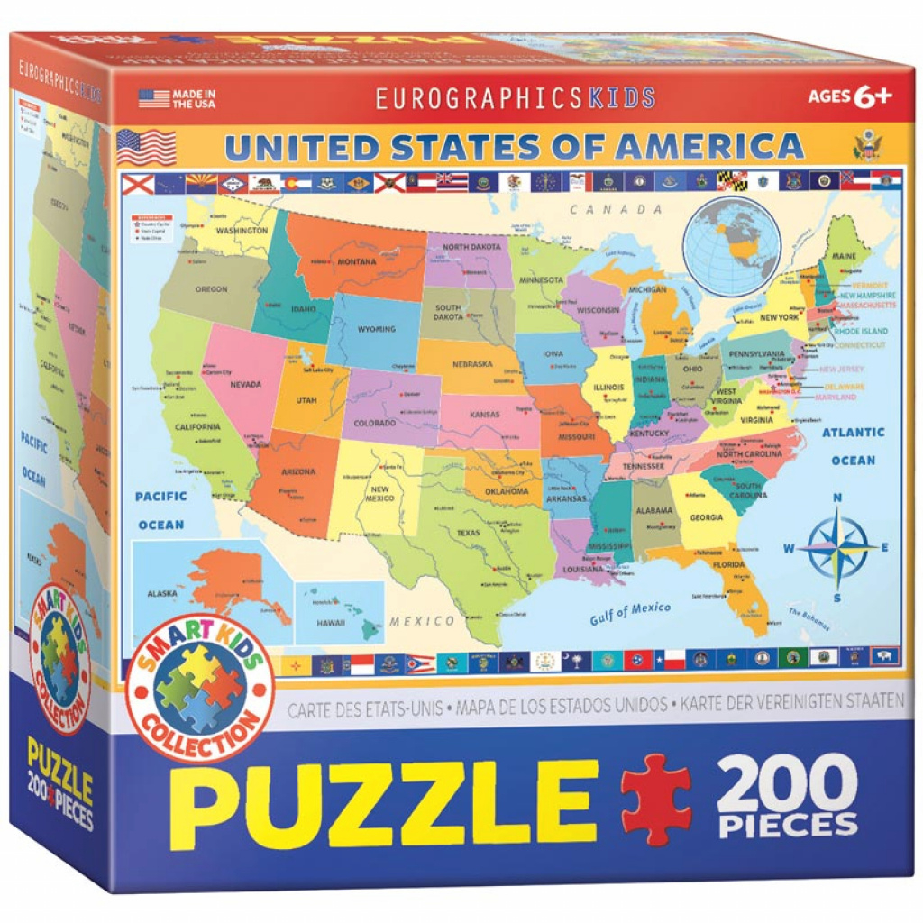 Map Of The United States Of America Jigsaw Puzzle | Puzzlewarehouse pertaining to United States Product Map