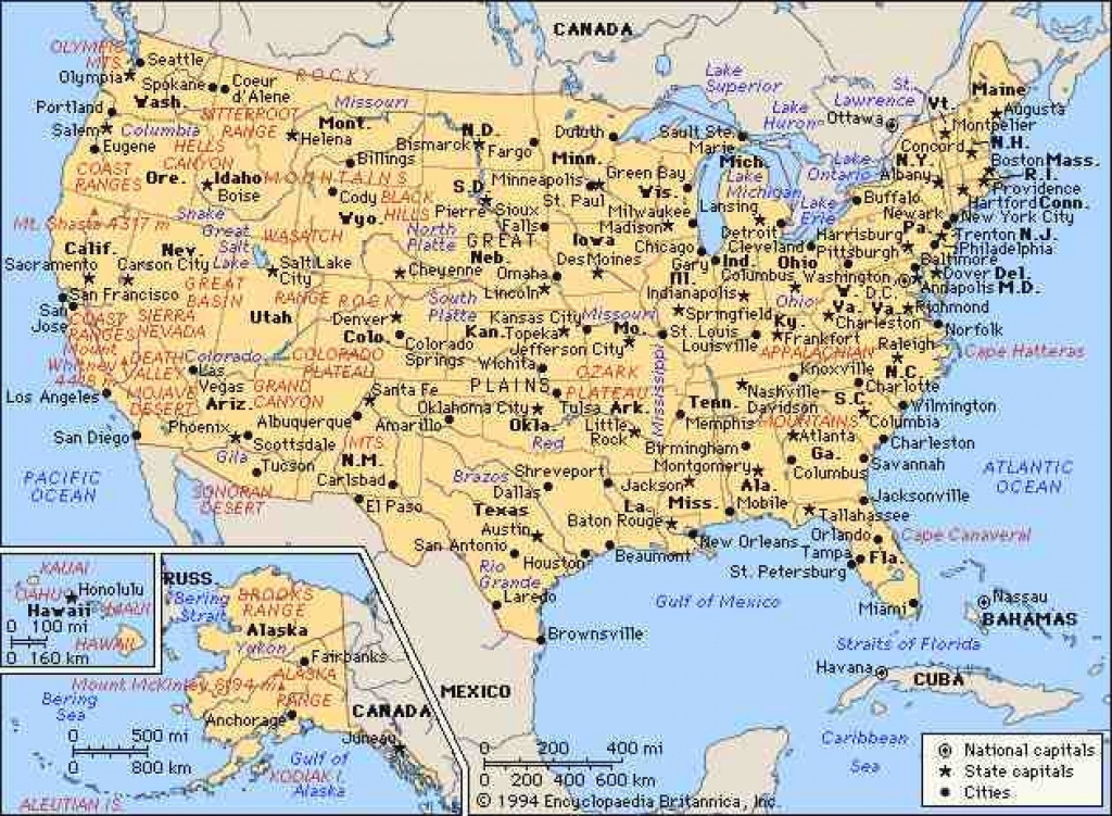 Map Of The United States With Cities Map Usa States And Cities pertaining to Usa Map With States And Cities
