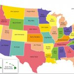 Map Of The Us Showing States Map Of Usa Showing State Names In In Map Of Usa Showing States