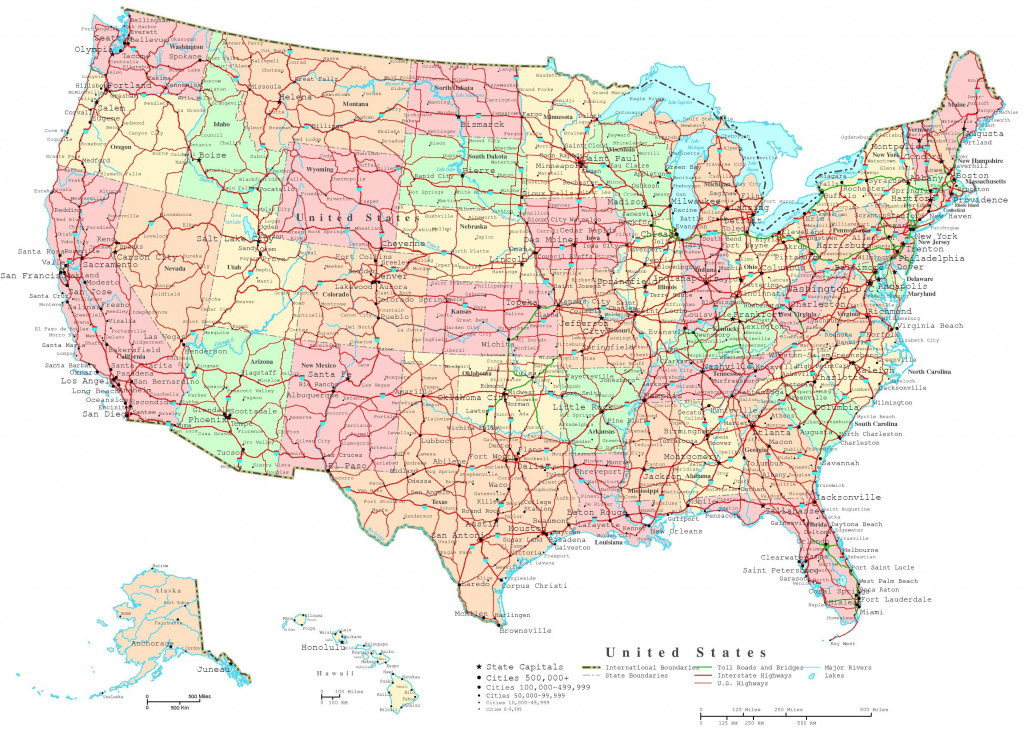 Map Of The Us States   Printable United States Map   Jb's Travels intended for Printable State Road Maps