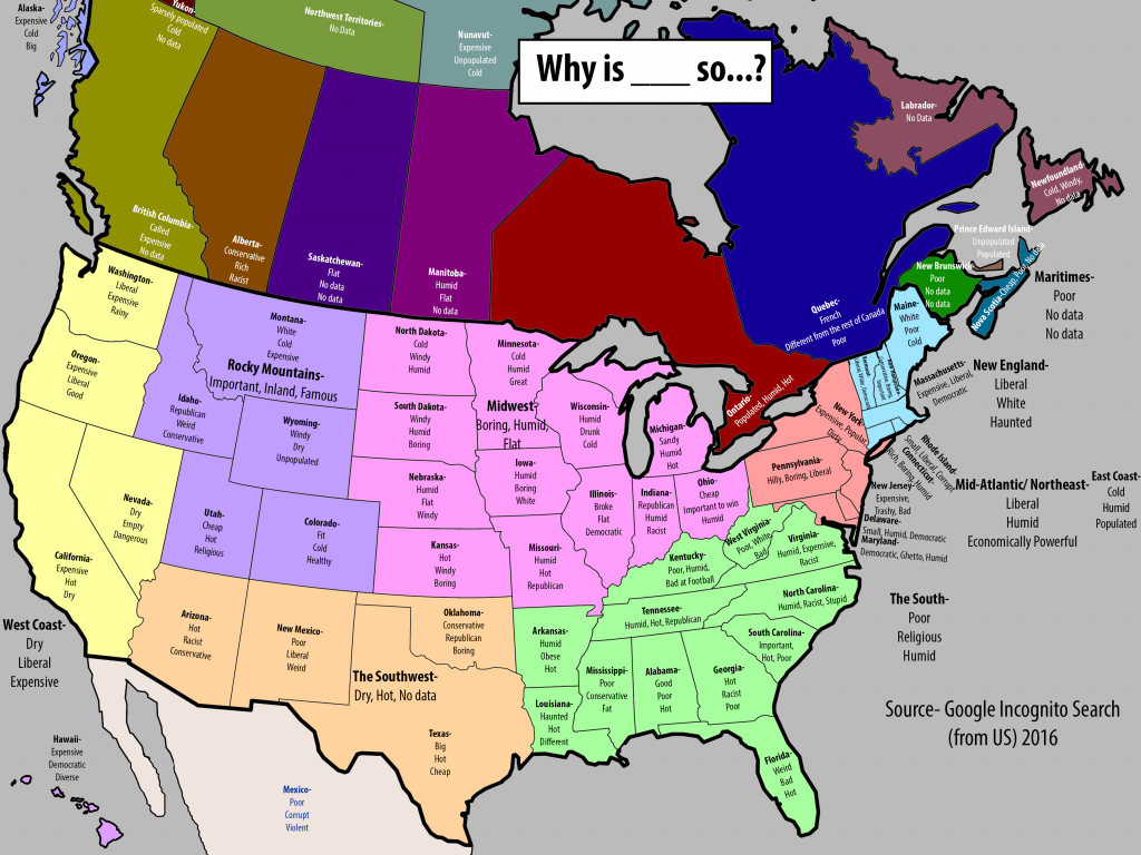 "Map Of Top 3 Autocomplete Searches For ""why Is ___ So"" In Each regarding What States Have I Been To Map"