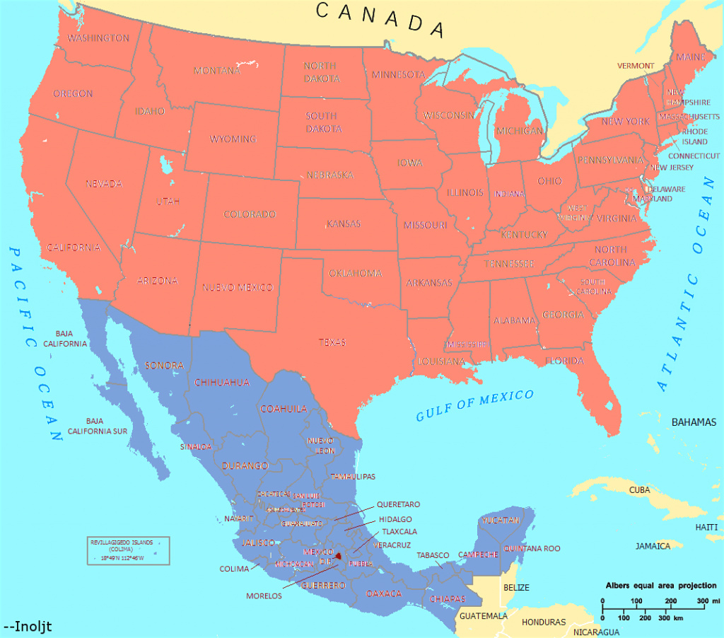 Map Of United States And Mexico Arabcooking Me With - All Maps Word in Mexico And The United States Map