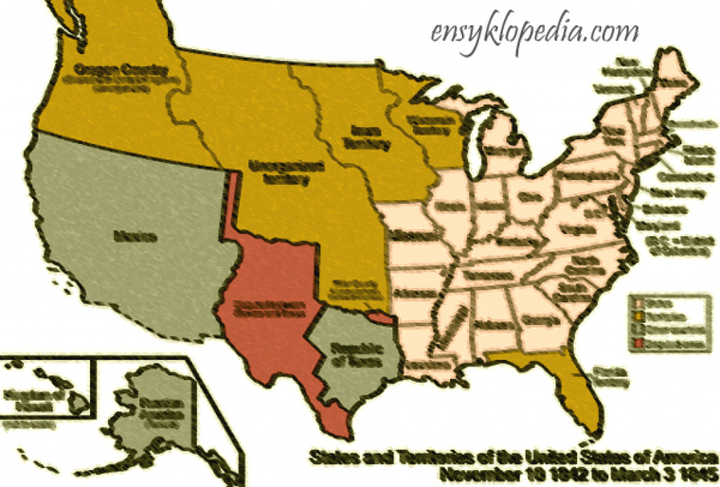 Map Of United States Around 1845 Ce with regard to Map Of United States 1845