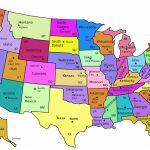 Map Of United States Capitals | Diy United States Magnets   Milk And Pertaining To States And Their Capitals Map