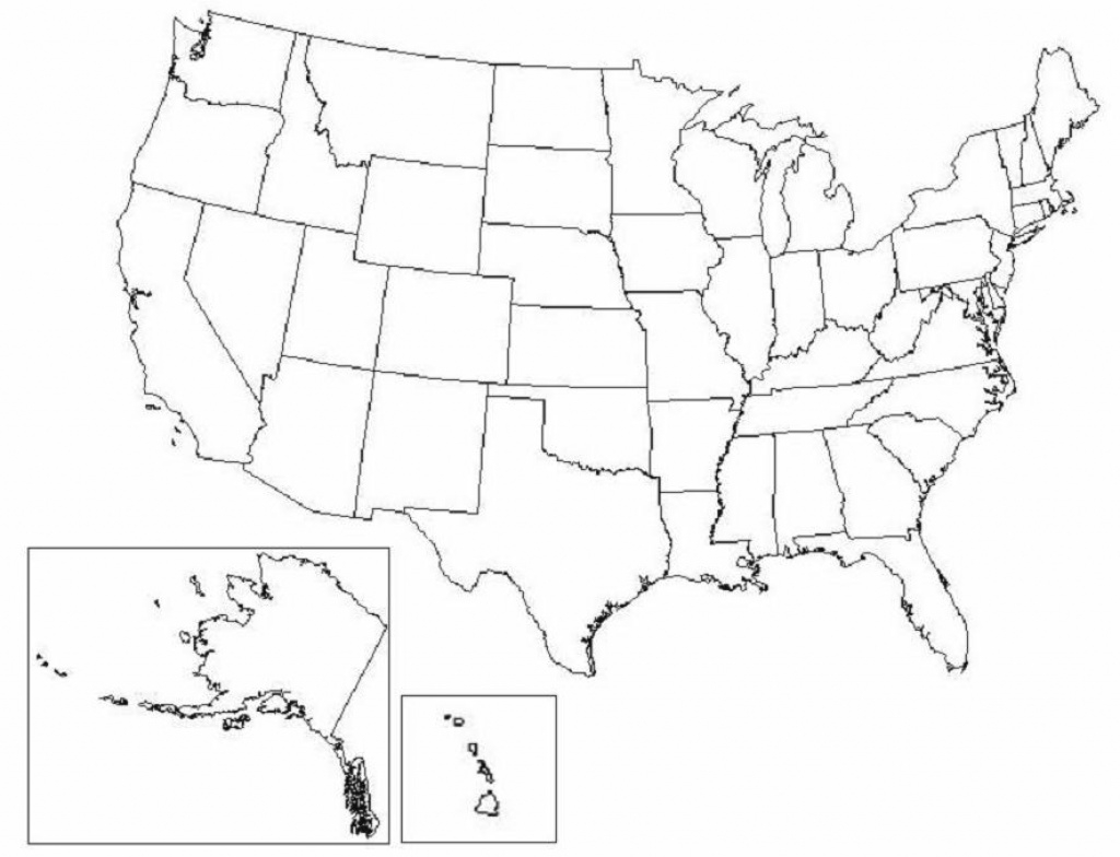 Map Of United States with Blank Us State Map Quiz