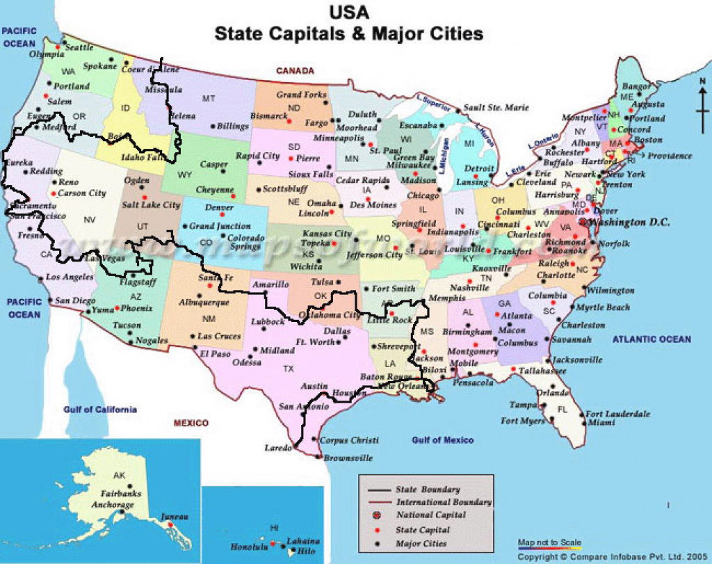 Map Of United States With Capitols And Travel Information | Download regarding United States Of America Map With Capitals