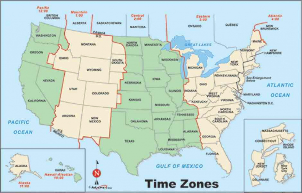 Map Of Us States Time Zones Us State Map And Time Zones Map Of U S in State Time Zone Map