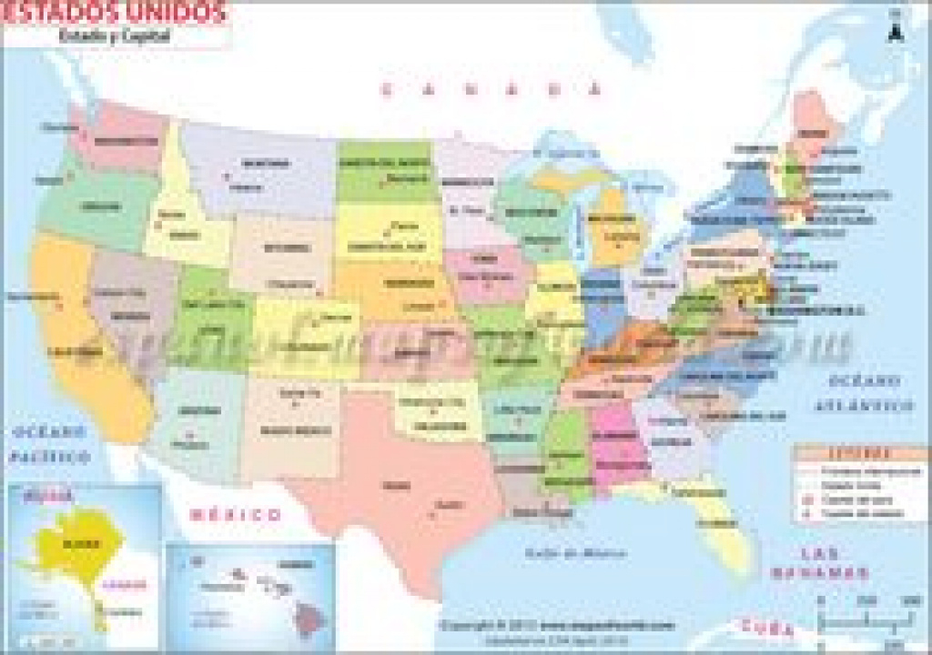 Map Of #usa - Showing Point Of Interest, Major Cities, States And in Map Of Usa Showing States