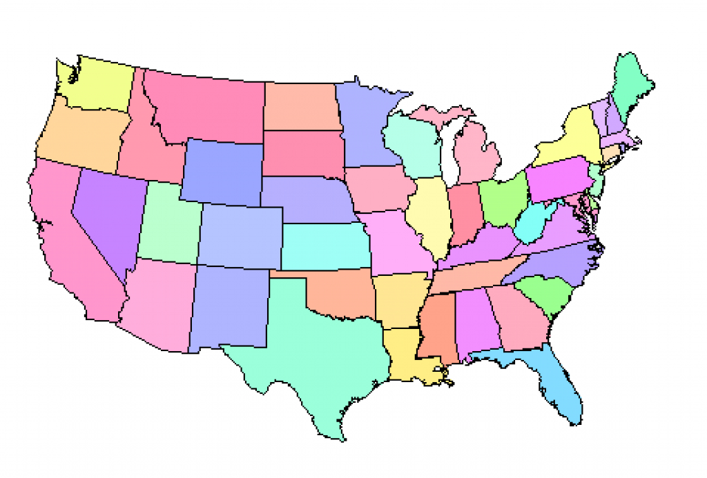 Map Of Usa States Without Names And Travel Information   Download throughout Us Map Without State Names