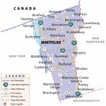 Map Of Vermont | State Map Of Usa Pertaining To Vt State Park Map