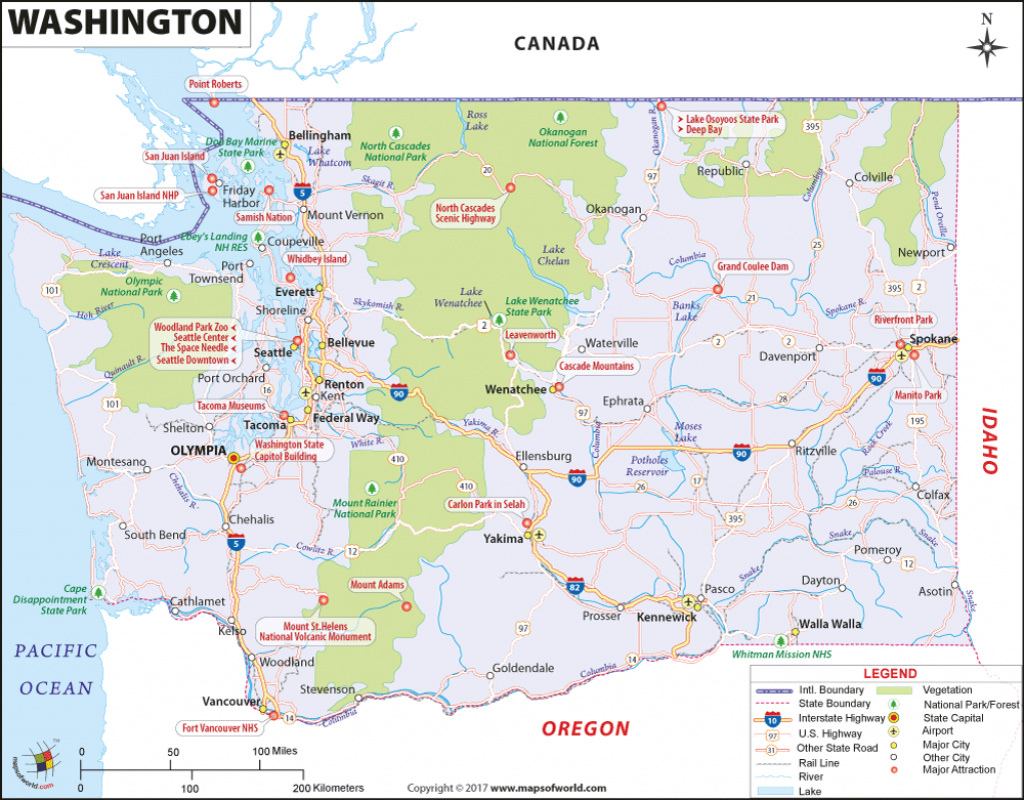Map Of Washington Stunning Detailed Map Of Washington State with Map Of Washington State Cities And Towns