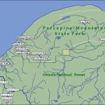 Map Of Waterfalls In The Porcupine Mountains Inside Map Of Porcupine Mountains State Park