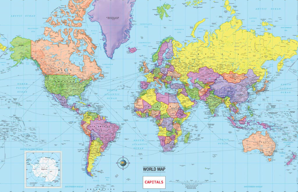 Map Of World Countries And Capitals » Travel with World Map With States And Capitals
