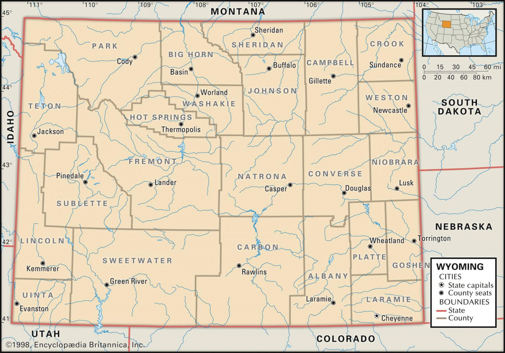 Map Of Wyoming » Travel intended for Free Wyoming State Map