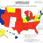 Map: Republican Vs. Democrat Control In The States | Americans For Within Republican States Map