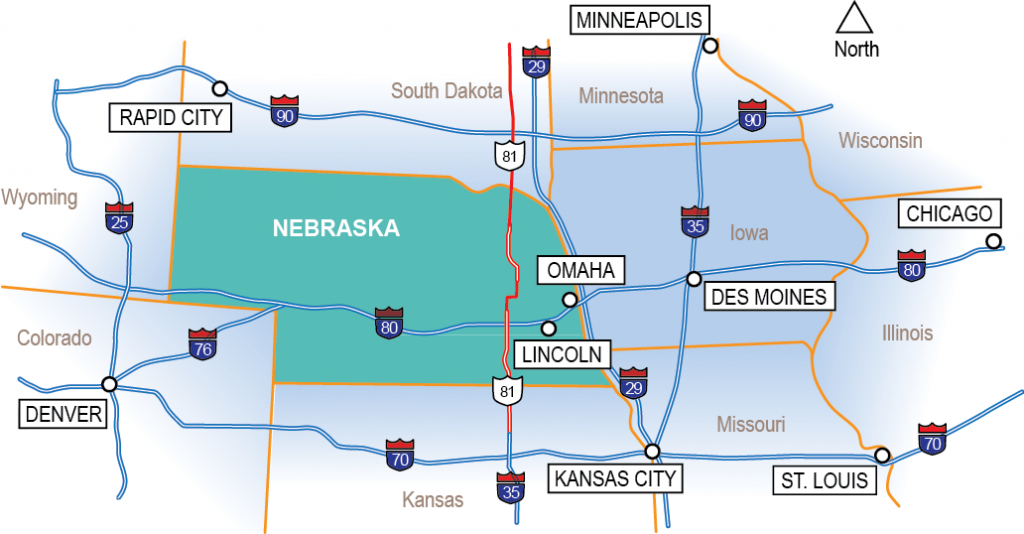 Map Room – Nebraska Economic Development Services | Nppd with Map Of Nebraska And Surrounding States