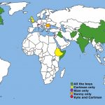 Map Showing All The Countries The Boys Have Visited : Southpark Intended For States I Ve Visited Map