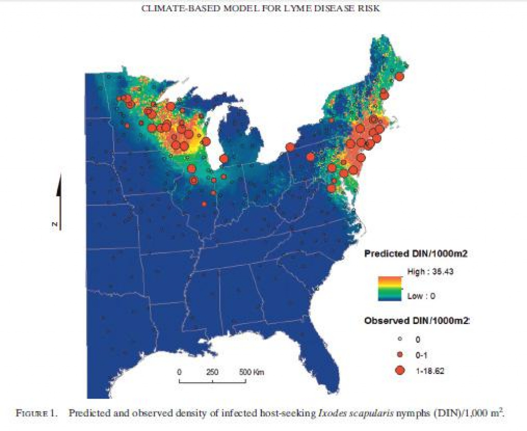 """Map Shows Southwest Michigan As An """"emerging Risk"""" For Lyme Disease pertaining to Lyme Disease New York State Map"""