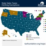 Map: State Sales Taxes And Clothing Exemptions   Tax Foundation In Sales Tax By State Map