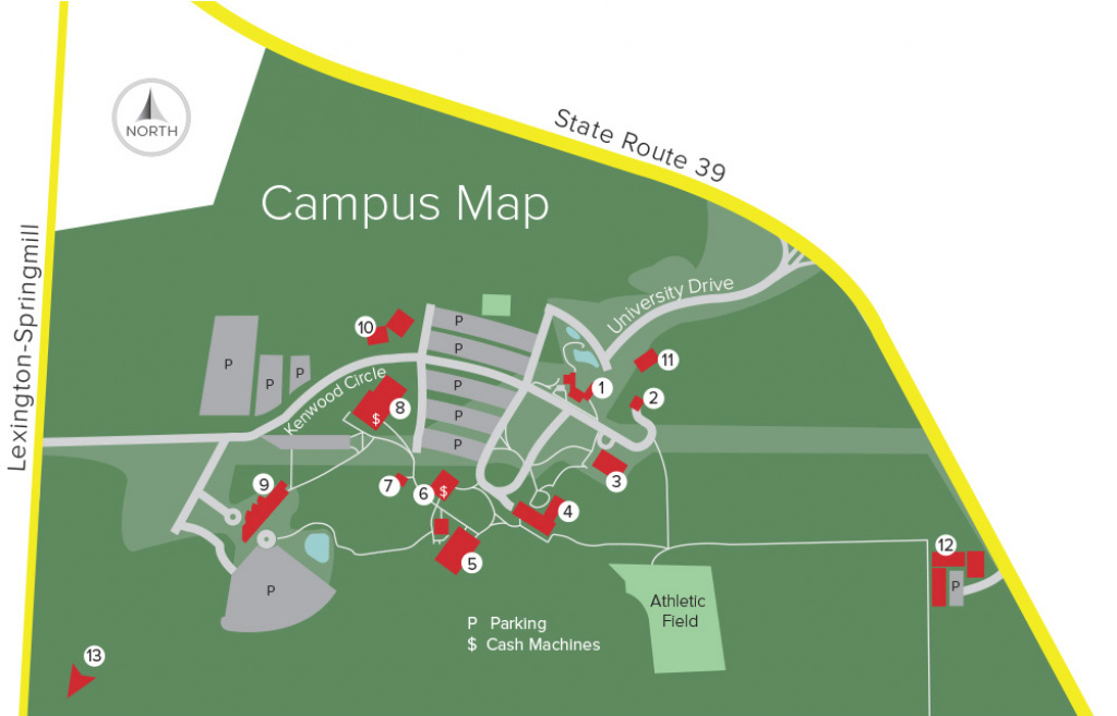 Map | The Ohio State University At Mansfield within Ohio State Map