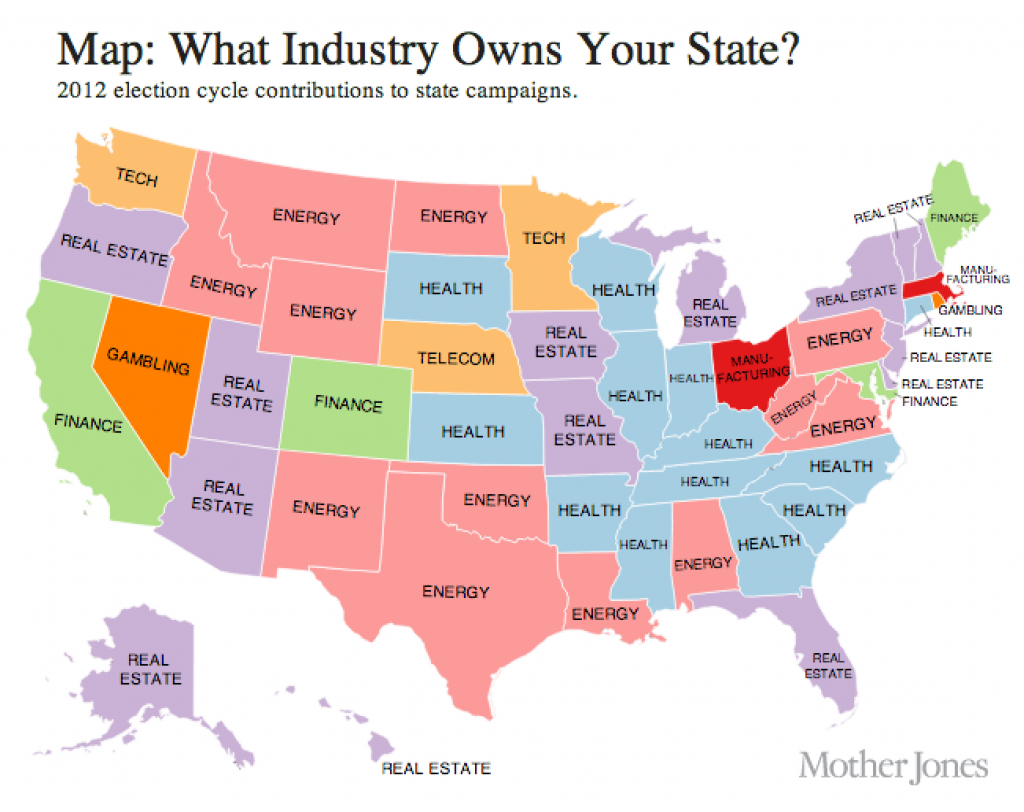 Map: The United States Of Corporatism intended for United States Industry Map
