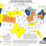 Map: Top State Income Tax Rates   Tax Foundation With Regard To Tax Rates By State Map