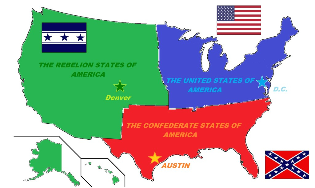 Map Us During Civil War Border States Fictional Of The U S A 2Nd within Civil War Border States Map