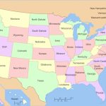 Map Us State Borders Printable Fresh Map Usa With State Borders And Regarding Us Map With State Lines