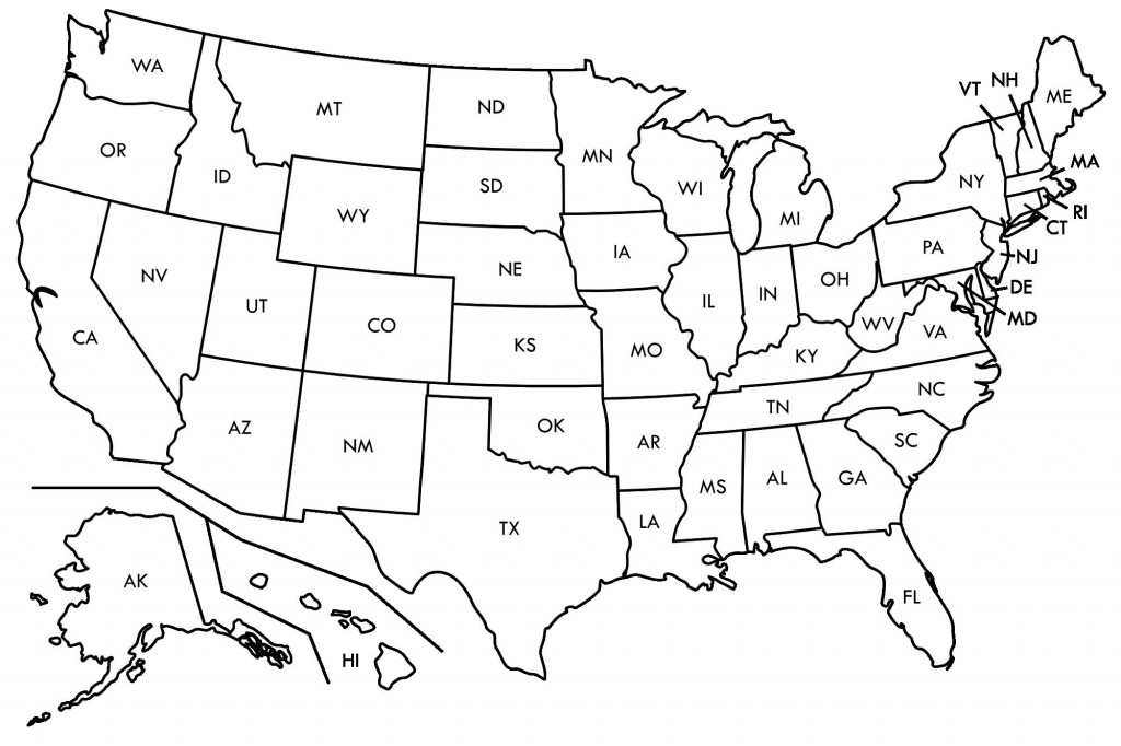 Map Us State Borders Printable New Printable Us Map With Capitals Us inside Printable Us Map With States