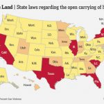 Map: Where Is 'open Carry' Legal?   The Numbers   Wsj For States That Allow Open Carry Map