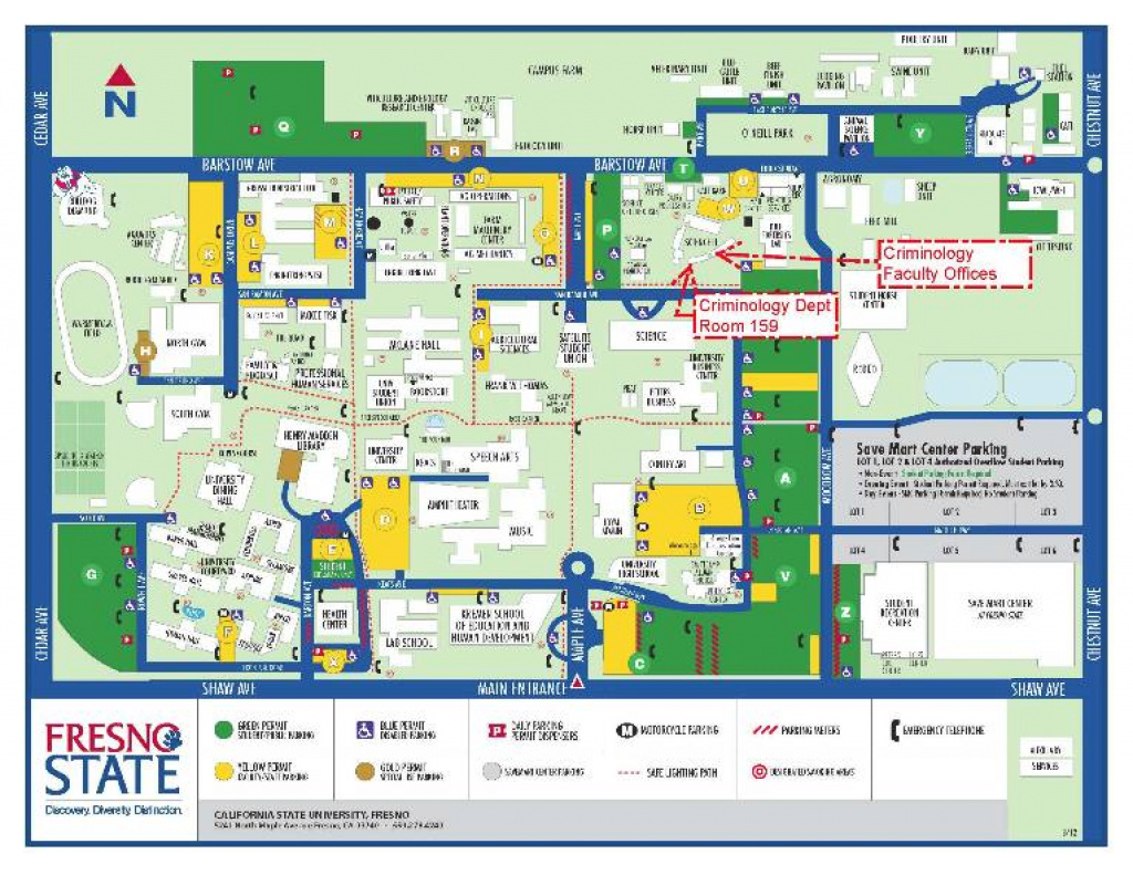 Map with regard to Fresno State Campus Map