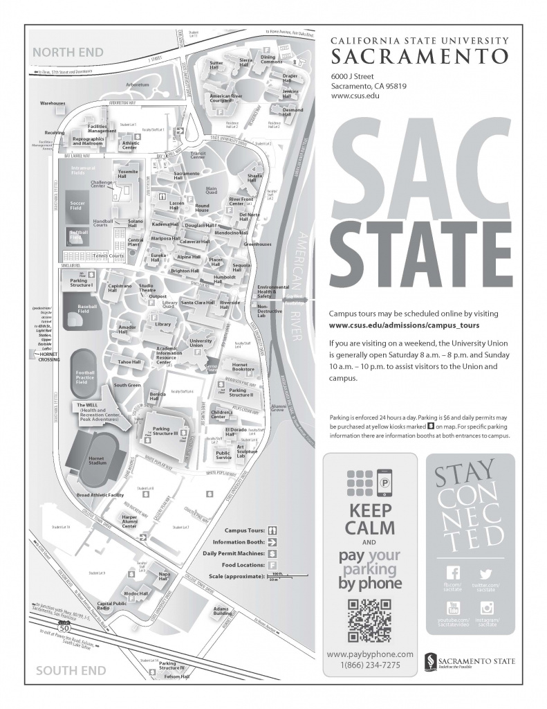 Map with Sac State Campus Map