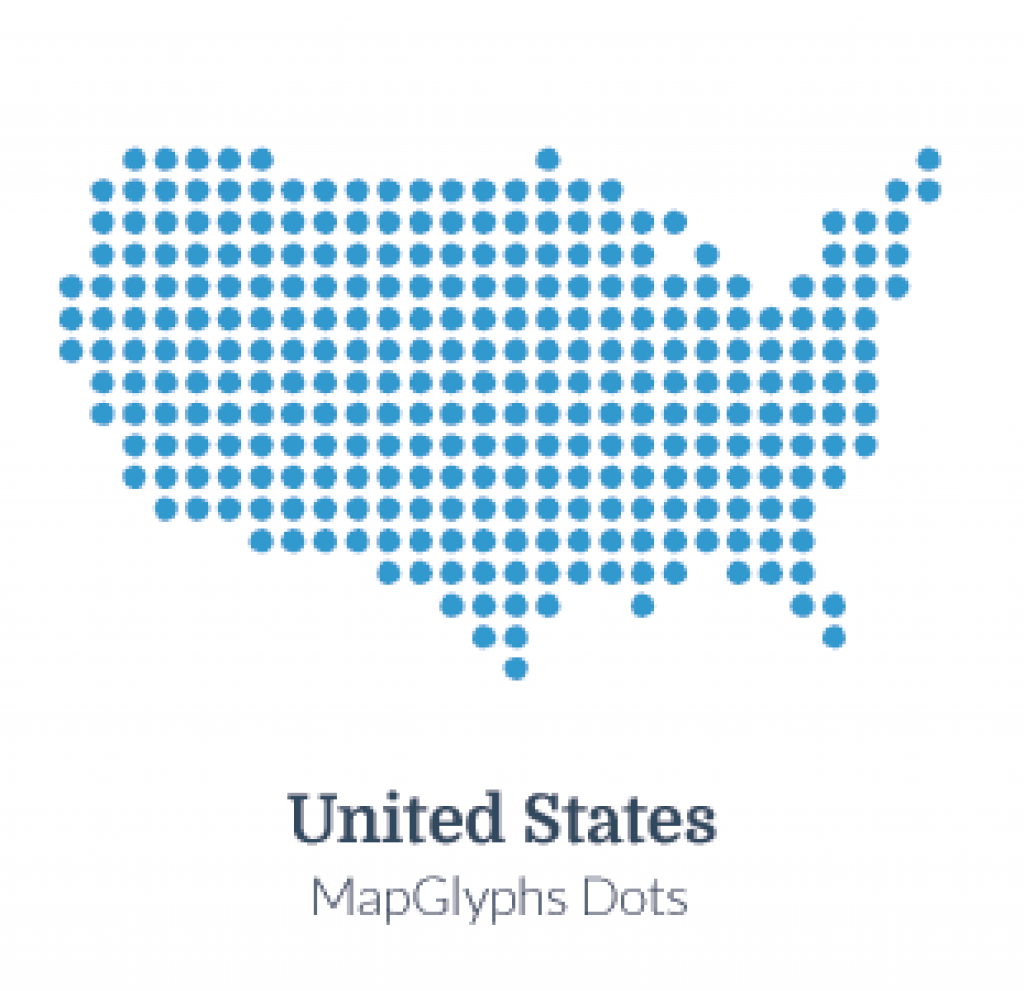 Mapglyphs Dots - United States | Map Glyphs with Google Maps State Icons