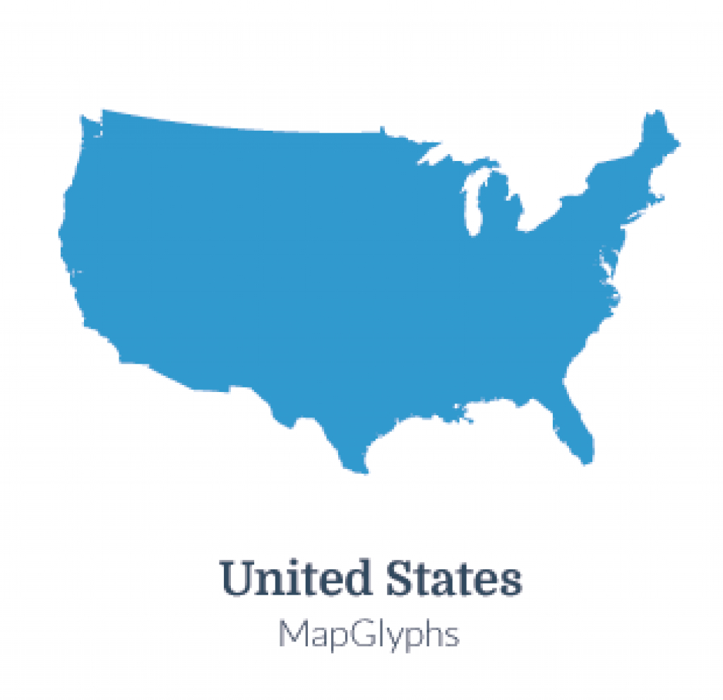 Mapglyphs Dots - United States | Map Glyphs with regard to Google Maps State Icons