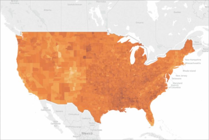 Tableau Heat Map By State