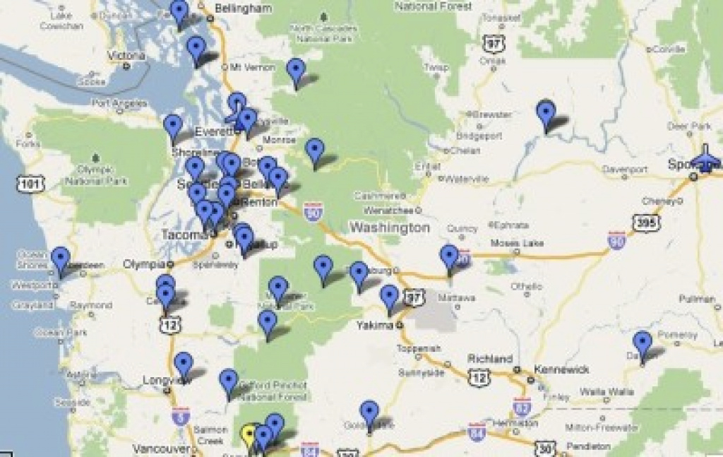 Mapping The Great Depression In Washington State regarding Washington State Airports Map