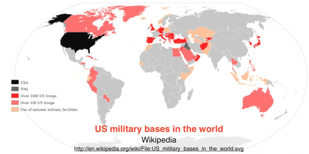 Mapping U.s. Foreign Military Bases | Geocurrents inside United States Military Bases World Map
