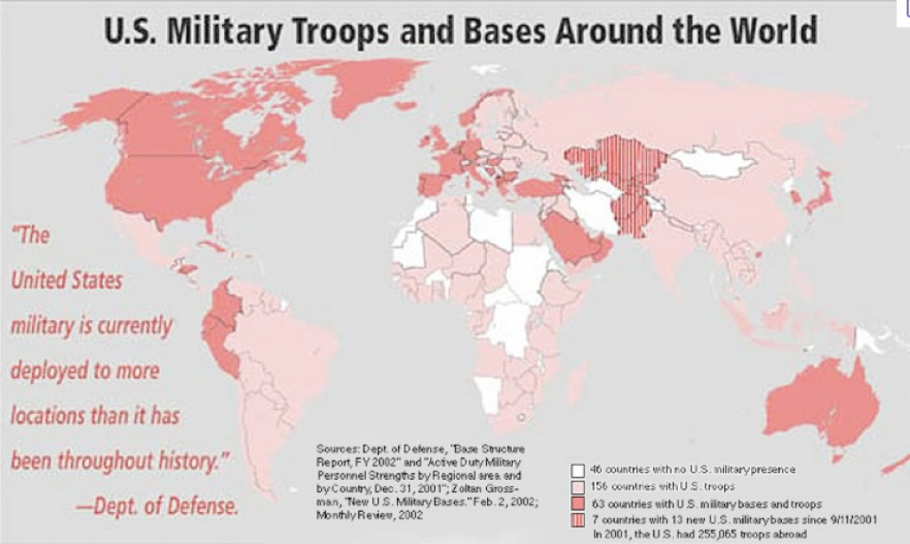 Mapping U.s. Foreign Military Bases | Geocurrents intended for Military Bases By State Map