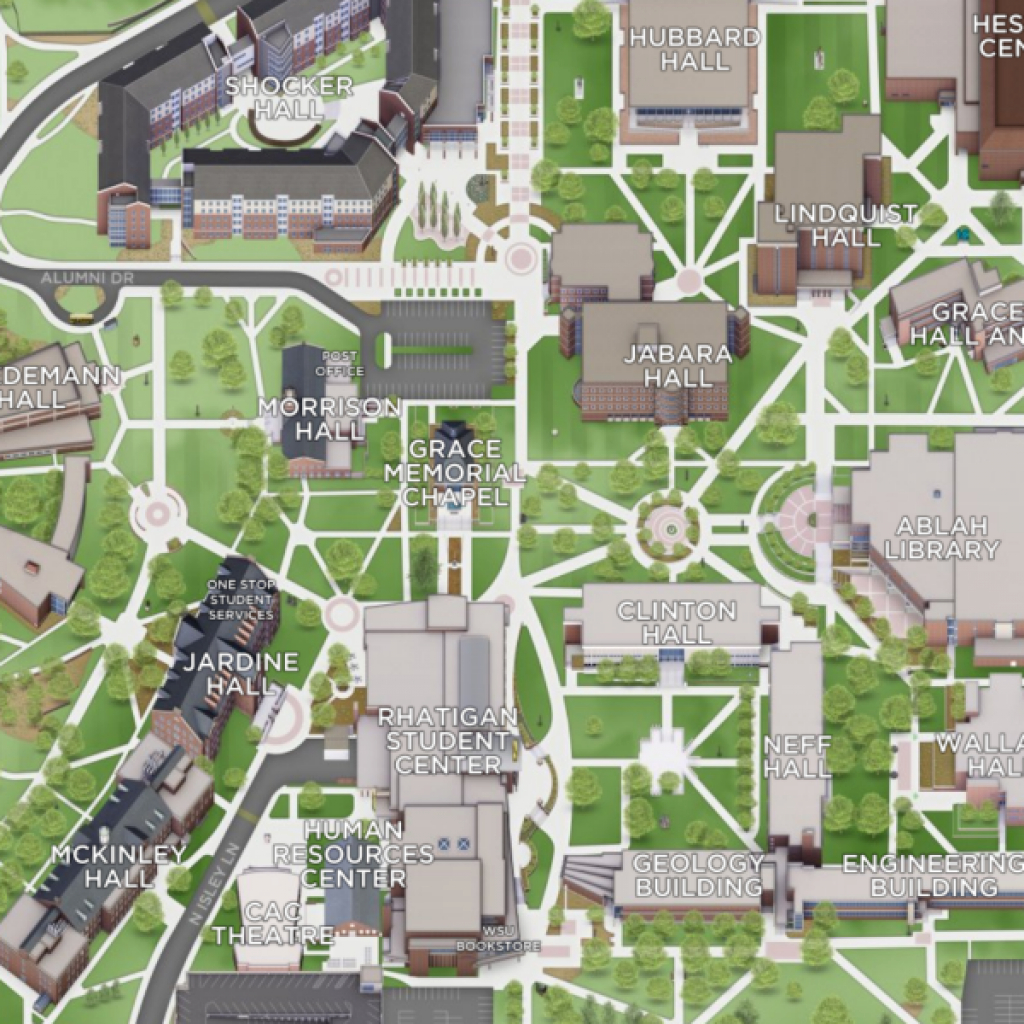 Maps And Directions for Wichita State University Campus Map Pdf